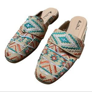 Montana West Aztec embroidered Mules 8